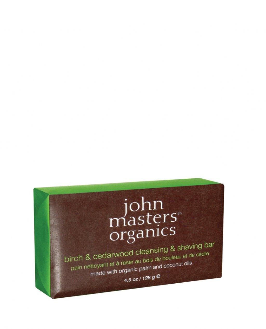 Sapone detergente e per rasatura alla betulla e legno di cedro